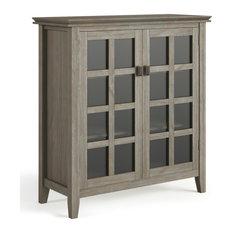 Artisan Solid Wood Medium Storage Cabinet, Distressed Gray