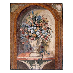 "Mosaic Wall Art, Imaginative Vase, 35""x47"""