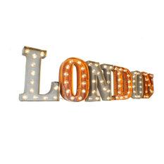 London Illuminated Carnival Vintage Word Lights