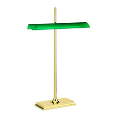 FLOS Official Goldman Brass Color Modern Table Lamp by Ron Gilad
