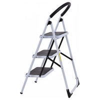 Costway 3 Step Ladder Folding Stool Heavy Duty 330Lbs Capacity Industrial