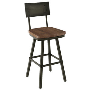 Liberty Furniture Vintage Series X Back Counter Chair Industrial