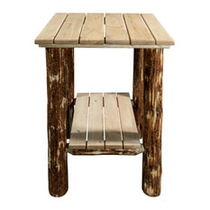 Glacier Country Exterior End Table, Exterior Stain Finish