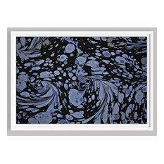 """Nouveau, Lavender, 25""""x37"""" Framed, White"""