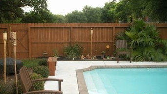 Before and After of fence around swimming pool.