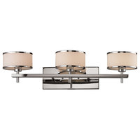 Utica 3-Light Vanity Lamp In Polished Chrome With White Blown Glass (11417/3)