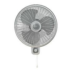"Lasko M16900 Oscillating 3-Speed Wallmount Fan, Rotary & Pull Cord Control, 16"""