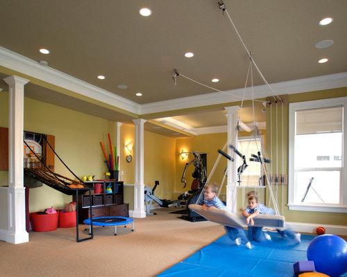 Traditional home gym design ideas pictures remodel