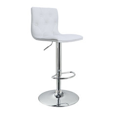 MOD - Jefferson Faux Leather Adjustable Bar Stool, White - Bar Stools and Counter Stools