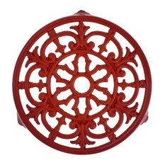 Chasseur Red Enameled Cast Iron Fleur De Lys Trivit