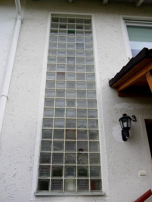 Ersatz von glasbausteinen im treppenhaus milch oder klarglas - Glasbausteine durch fenster ersetzen ...
