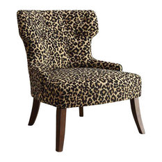Beau Acme Furniture   Acme Claribel Accent Chair, Leopard Fabric And Espresso    Armchairs And Accent