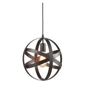 Industrial Metal Spherical Changeable Pendant Lighting, Oil Rubbed Bronze
