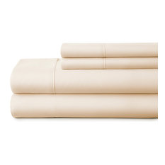 Home Collection Ultra-Soft Luxury 4 Piece Bed Sheet Set, Ivory, Queen