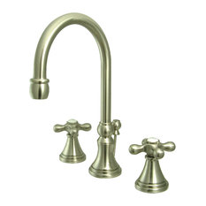"""8"""" Widespread Lavatory Faucet, Brushed Nickel"""