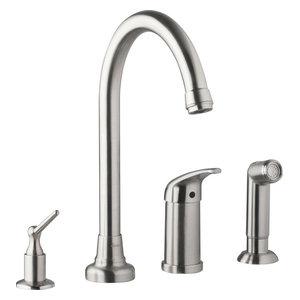 Danze Melrose Kitchen Faucet Stainless Steel W Dispenser Sidespray D409112ss