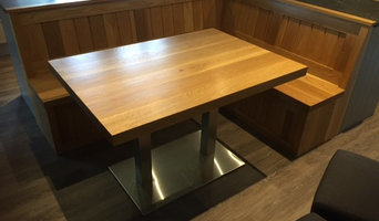 Solid Oak corner seat/bench with table