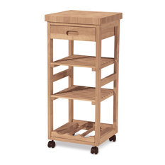 International Concepts Wood Kitchen Trolley W Square Top Kitchen Islands And Kitchen Carts