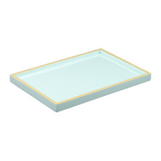 Duck Egg with Beige Lacquer Vanity Tray