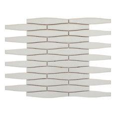 "Vogue Gray 12""x12"" Ceramic Mosaic Tile, Set of 11"