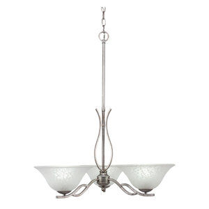 """Chandeliers, 10"""" White Marble Glass"""