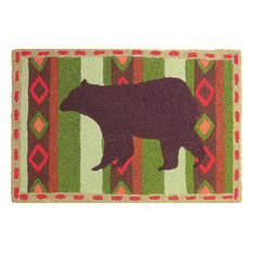 Brown Bear Country Decor Indoor Outdoor Accent Rug