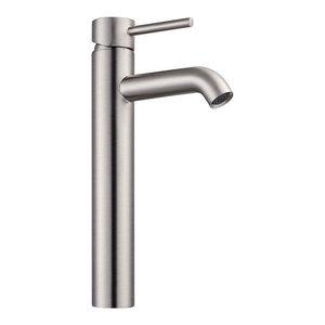 """12"""" Bathroom Vessel Sink Faucet 1-Hole, Brushed Nickel"""