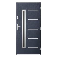 Picard Security External Single Door, Dark Anthracite, 90 cm