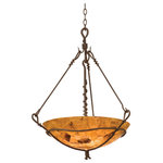 Kalco Lighting - Vine 3 Light Pendant, Bark/Penshell Natural Bowl Glass - This 3 light Pendant from the Vine collection by Kalco will enhance your home with a perfect mix of form and function. The features include a Bark finish applied by experts.