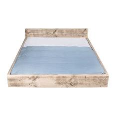 Lourmarin Shabby Chic Wooden Bed, UK Super King
