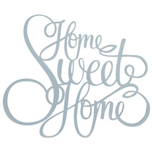 """Home Sweet Home"" Wall Decal, Grey"