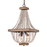 whoselamp - Farmhouse 4-Light Wood Beaded Chandelier Candle Empire Chandeliers - This aged chandelier features distressed wood beads that create a fall, which give us a unique and elegant charm. The classic chandelier gets a rustic update with a white finish and basket shape. It is ideal for a dining room, kitchen, bedroom, living room, and foyer. The chandelier brings creativity and love for transforming houses into beautiful spaces.
