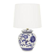 Decor Therapy   Blue And White Ceramic Table Lamp   Table Lamps