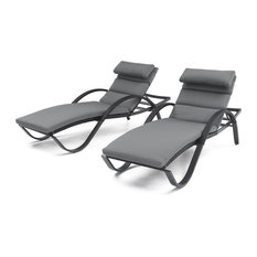 Deco Chaise Lounges Chair, Set of 2 by RST Brands, Gray