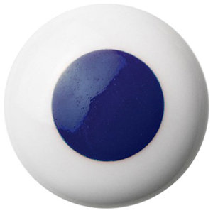 Anne Black Dots Handle, Blue, Small