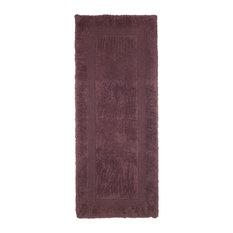 100% Cotton Reversible Long Bath Rug by Lavish Home, Chocolate