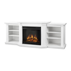 Valmont Entertainment Center Electric Fireplace in White