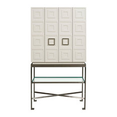 Ordinaire Vanguard Furniture   Vanguard Furniture Knickerboker Bar Cabinet In White  Lacquer   Wine And Bar Cabinets