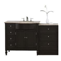 58 in. Kelston Single Sink Bathroom Vanity in Dark Walnut