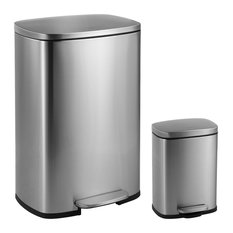 Himess Connor 50l And 5l Soft Close Trash Can Stainless Steel