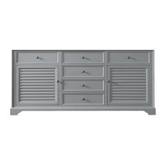 "Savannah 72"" Double Vanity Cabinet, Urban Gray, Cabinet Only"