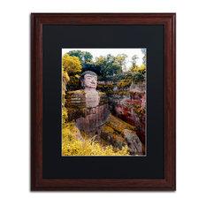"""Philippe Hugonnard 'Giant Buddha II' Art, Wood Frame, Black Matte, 20""""x16"""""""