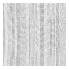 "Montauk Stripe Sheer Fabric, Fog, 84""x36"""