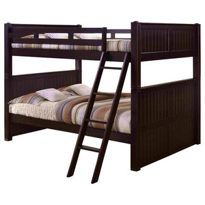 Brantley Ii Bunk Bed Sandy Black And Silver Industrial Bunk Beds By Acme Furniture Houzz