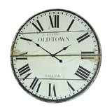 Wooden Vintage Style Town Hall Wall Clock