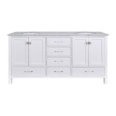 "72"" Malibu Espresso Double Sink Vanity, Without Cabinet Or Mirror"