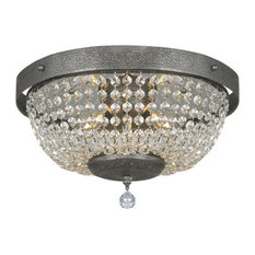 Traditional Flush-Mount Ceiling Lights | Houzz:Portfolio - Margaret Crystal Flush Mount Light - Flush-mount Ceiling  Lighting,Lighting