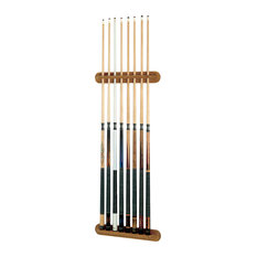 Traditional Oak 8 Cue Wall Cue Rack