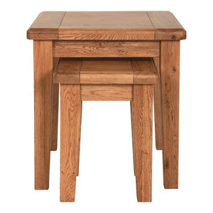 Rustic Manor Oak Nesting Tables, Set of 2