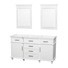 "Wyndham Collection 60"" Berkeley White Double Vanity, No Countertop, No Sink"